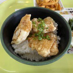 社会学部食堂の「チキン竜田丼」です。