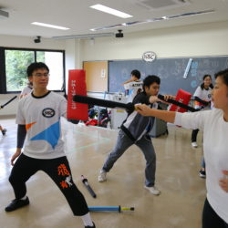 HOSEIスポーツチャンバラクラブの体験企画です。