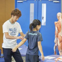 スポーツ健康学部では身体について深く学ぶことができます。
