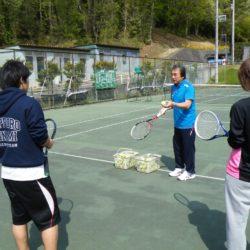 授業風景(テニスの授業)